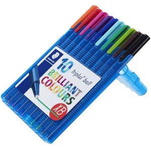 خودکار استدلر مدل Brilliant Colours XB بسته 10 رنگ مخصوص خوشنویسی
